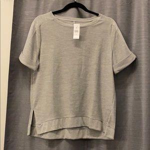 Grey cropped sweatshirt tee